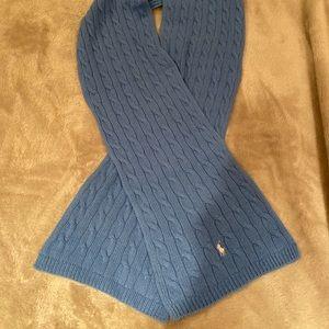 Ralph Lauren blue knit scarf
